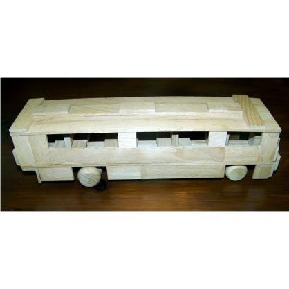 autobus - dřevěný materiál na výrobu modelů