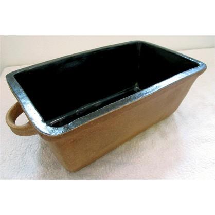 hranatá forma na chleba hladká- kameninová forma na pečení (ruční výroba)