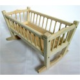 kolébka pro panenky z jasanového dřeva - střední (ruční výroba)