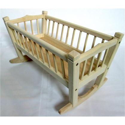 kolébka pro panenky z jasanového dřeva - malá (ruční výroba)