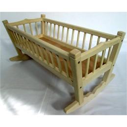 kolébka pro panenky z jasanového dřeva - větší (ruční výroba)