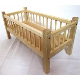postýlka pro panenky z jasanového dřeva - malá (ruční výroba)