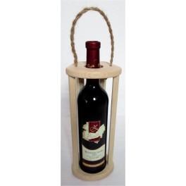 dřevěný nosič na láhve (ruční výroba)