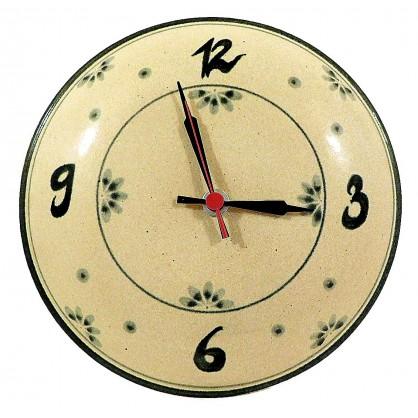 nástěnné hodiny keramické (ruční výroba)