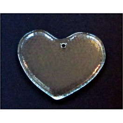 srdce - závěsná dekorace - čiré sklo (ruční práce)