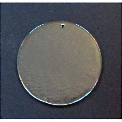 kolečko - závěsná dekorace - čiré sklo (ruční práce)