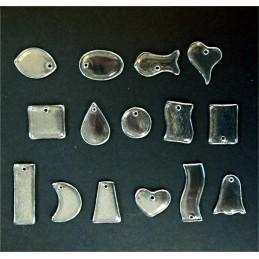 závěsná dekorace MIX 1 - čiré sklo (ruční práce)