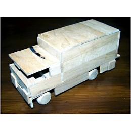 náklaďák skříňový - dřevěný materiál na výrobu modelu