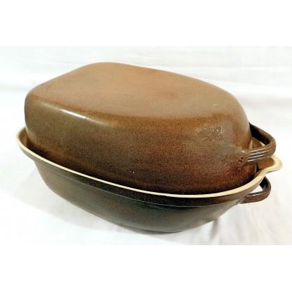 husak menší - kameninový pekáč na husu (ruční výroba)