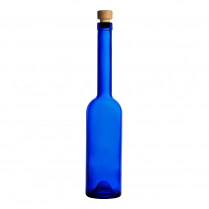 láhev 0,5 litru modrá - lisované sklo