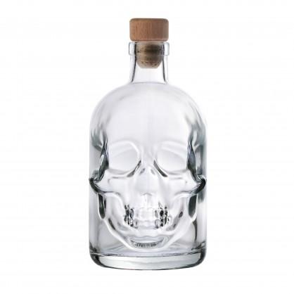 láhev 0,5 litru lebka Skull - lisované sklo