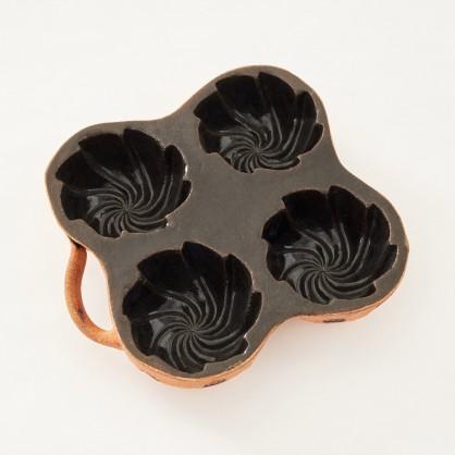 belešník 4 bábovičky  - kameninová forma na beleše (ruční výroba)