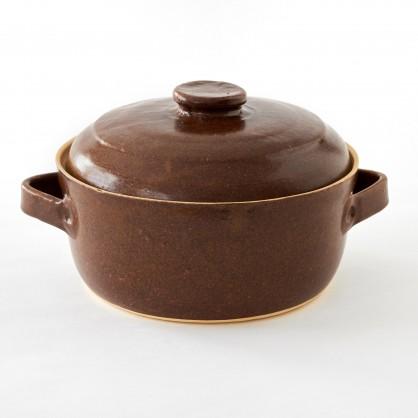 hrnec (kastrol) s poklicí 2L - kameninový hrnec na pečení (ruční výroba)