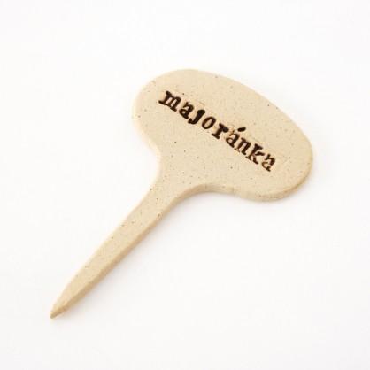 MAJORÁNKA - keramická jmenovka k bylinkám (ruční výroba)