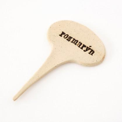 ROZMARÝN - keramická jmenovka k bylinkám (ruční výroba)