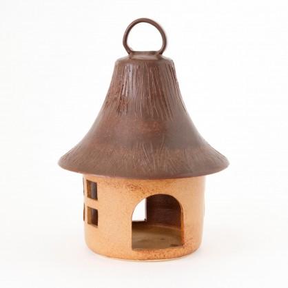 závěsné ptačí krmítko 30cm - kameninové krmítko (ruční výroba)