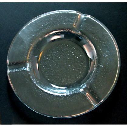 popelník skleněný čirý (ruční práce)