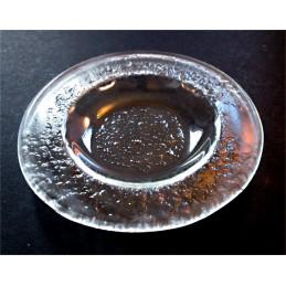 talíř kulatý 14cm čiré sklo (ruční výroba)