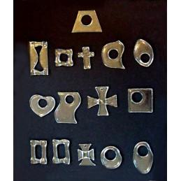 závěsné dekorace MIX 2  (cena za ks) - čiré sklo (ruční výroba)